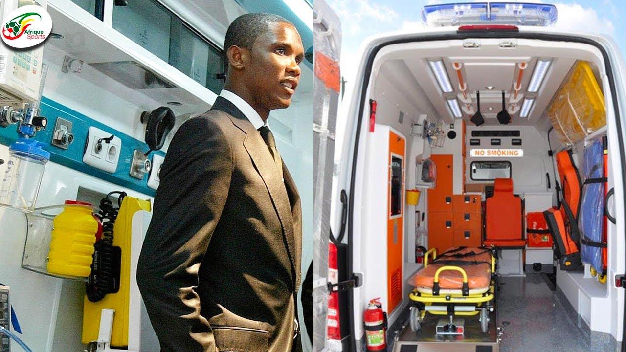 """""""ซามูเอล เอโต้"""" ใจหล่อมาก! เหมารถพยาบาล 10 คันช่วยบ้านเกิดสู้โควิด"""